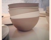 RESERVED for Emily Creighton and Dave Field - Wedding Registry - ONE Porcelain Soup Bowl