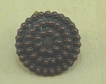 Tirana Antique Copper Dimensional Dotted Buttton  C29