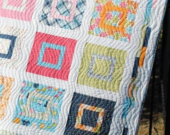 Baby or Lap Quilt Pattern, ...Layer Cake or Fat Quarters, Sweet Jane's Lovie