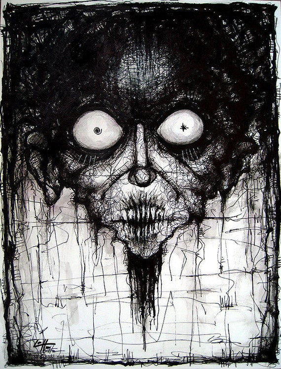 Items Similar To Print 8x10 Rotted Dark Art Horror