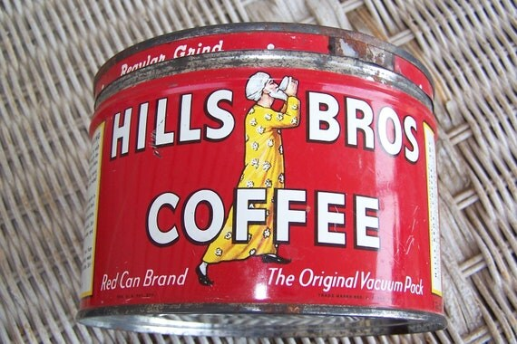 Coffee Tin, Hillsbrothers Red Tin
