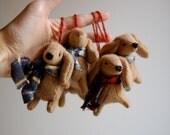 Set of Four Dachshund Ornaments