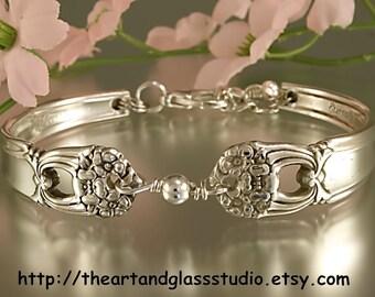 Silver Spoon Bracelet ETERNALLY YOURS Jewelry Vintage, Silverware, Gift, Anniversary, Wedding, Birthday