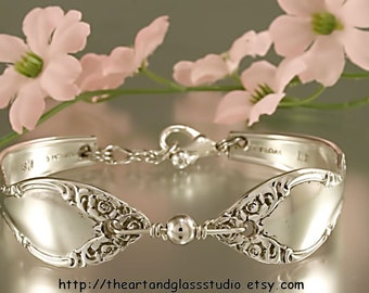 Silver Spoon Bracelet LADY DENSMORE Jewelry Vintage, Silverware, Gift, Anniversary, Wedding, Birthday