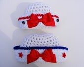 Little Sailor Crochet Hat Pattern Easy 8 Sizes Baby Crochet Pattern Infant thru 5t Tutorial for Pull Tie Bow Instant Download No.54