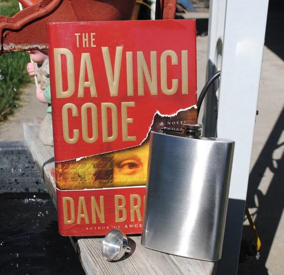 Hollow Book Safe & Secret Flask - The Da Vinci Code