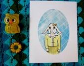 "Miss Charollette 8.5""x11"" Print- Animal Portraits"