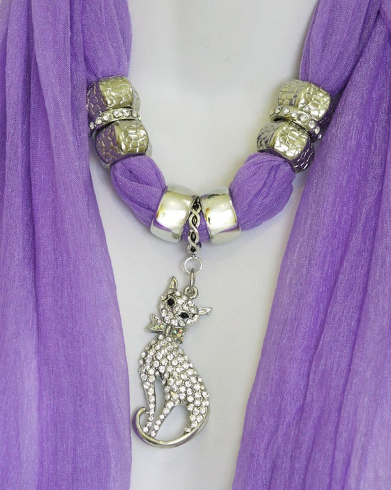 scarf jewelry with pendant purple scarves with pendants