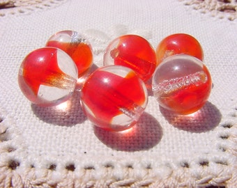 Sassy Red Givre Vintage Glass Beads
