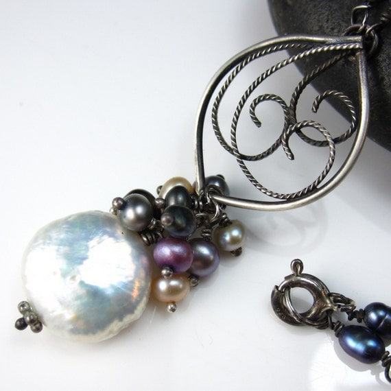Filigree and Pearl Necklace