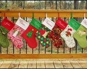 Sewing Tutorial - Christmas Stocking Patterns - Elf and Traditional