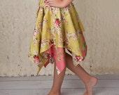 Skirt Pattern for Girls - Handkerchief Skirt Pattern - Pixie Hem Skirt Tutorial