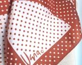 Chocolate Kiss - a vintage 1960's Vera Neumann Polka Dot scarf