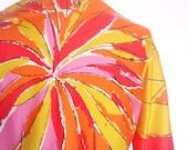 Brilliant Sun - a rare, collector's favorite, vintage 1960's Vera Neumann Lucky Ladybug Cotton Blouse Shirt Top