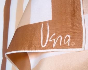 Cinnamon Stripe - a vintage 1970's Vera Neumann Op-Art Scarf