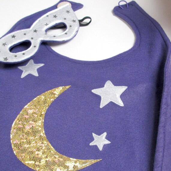 Super Hero Cape and Mask Set - Purple Wizard (WOW071712-2)