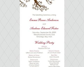 Love Bird Wedding Programs