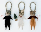 Holiday Ornaments - Cat Christmas Ornaments - Christmas Tree Ornaments