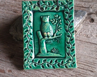 Mini Green Hooter Tile