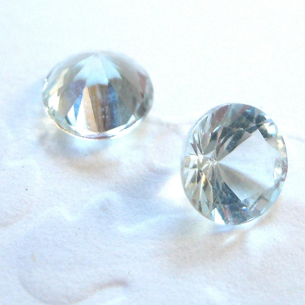 faceted gemstones aquamarine brilliant cut aaa 4mm for one