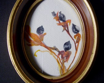 Brambleberry Original Watercolor in Oval Frame