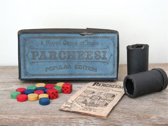 Vintage Royal Game of India Parcheesi Game