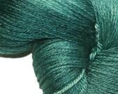 JADE in Hand Dyed Poet Seat Fingering Weight Superwash Merino and Silk Yarn