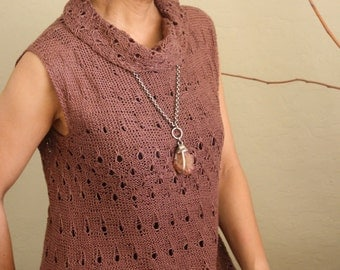 "PDF Pattern: ""Espresso"" Tunic Top - Knitting"