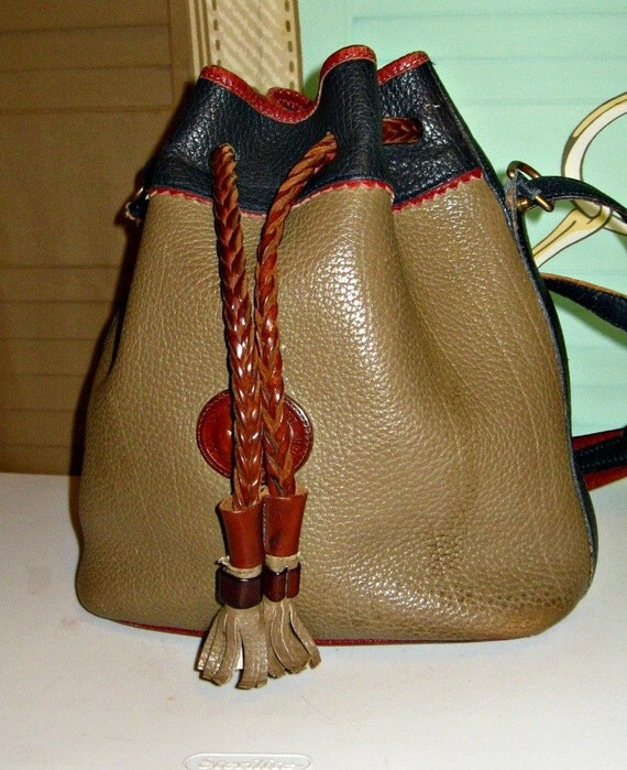 Vintage Dooney & Bourke Drawstring Bag Purse