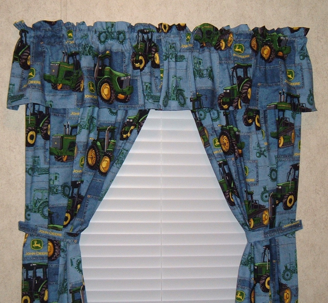 John Deere Curtains 42 Inch Wide Panels