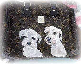 Custom Schnauzer Handbag