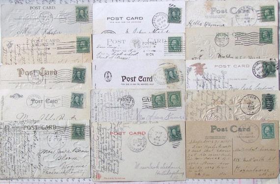 15 Vintage Used Postcards..1906