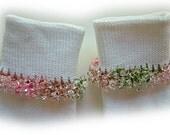 Kathy's Beaded Socks - (Sale)  Clear Pink Camouflage socks, variegated socks, pink socks, green socks, camouflage socks