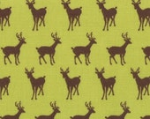 LAST 29 Inches - Oh Deer Collection By Moda -Deer on Green - One Yard - 7.50