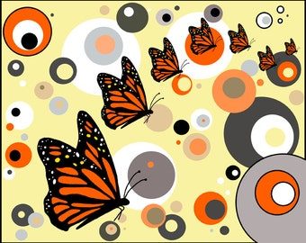 Monarch Butterfly Print by Lisa Karen Ward