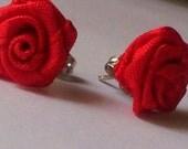 Rose Flower Bud Earrings