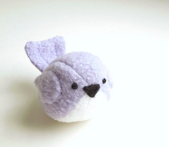 Light Purple Lavender Bird Stuffed Animal