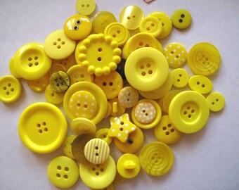 Button mix in LEMON SHERBET yellow x 50g or 2oz approx