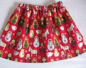 Christmas Babushka Nativity Skirt size 1-2T