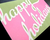 Two Tone Holiday Letterpress Cards // Set of 6 // 1527B