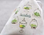 Succulent Terrariums Muslin Bag