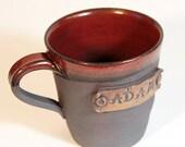 Personalized mug, Custom name mug, wheel thrown cup, handmade pottery, for him, for her, gift mug