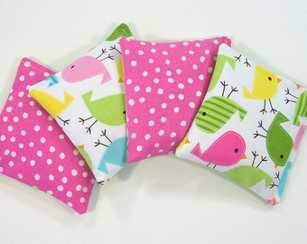 SPRING BIRDIES - Kids Bean Bag Set of 4- Party Favor - Stocking Stuffer