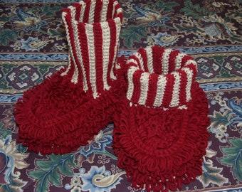 Crochet Pattern-Dust Mop Slippers-Adult