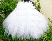 "White Angel Tutu Dress - Angelica - Custom Sewn Pixie Tutu Dress - up to 20"" long - sizes NB to 24 mo - Halloween Costume, Christmas Dress"