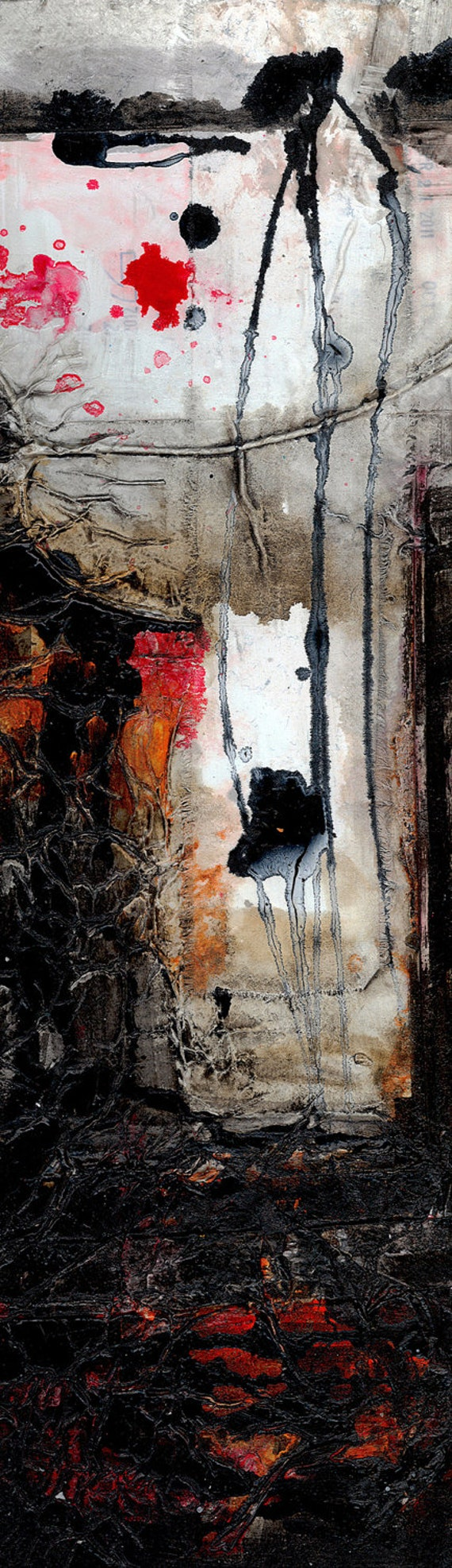 Encounters 4 ... Original Contemporary Modern mixed media art