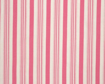 Tanya Whelan's  Barefoot Roses - Legacy Collection, Ticking Stripe in Pink, 1.5 YARDS