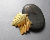 Ferns - spade brass earrings (limited stock)