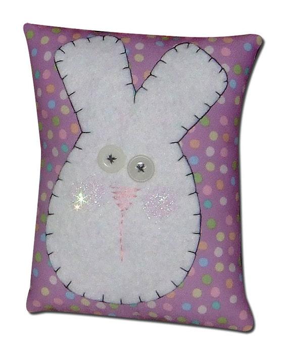 Sale - Primitive Bunny Pillow Easter Spring Decor (3546)