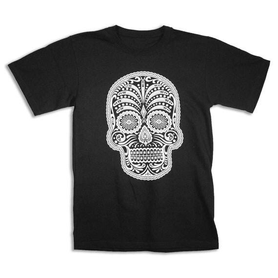 Mens DAY of the DEAD Sugar Skull T-shirt